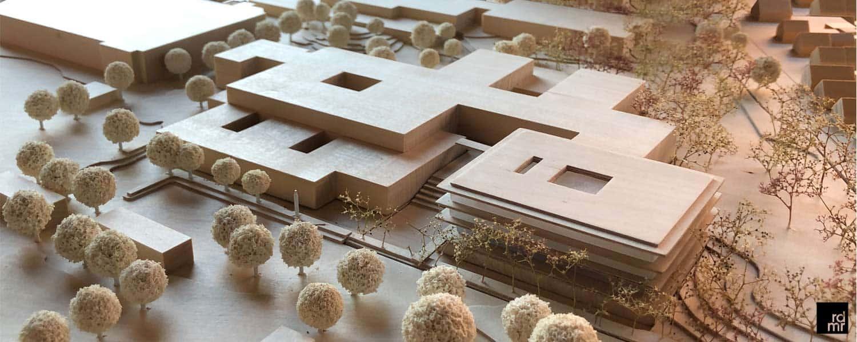 Modell der geplanten Schulerweiterung des Schulzentrums in Norderstedt