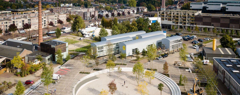 Luftbild des Büros von rdmr architect in Amersfoort in der Nieuwe Stad